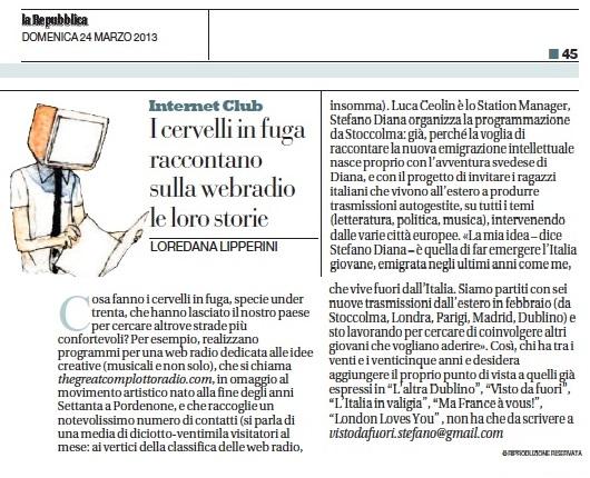 La Repubblica 24-03-2013
