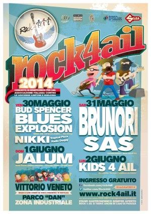 Rock 4 Ail, 30 maggio – 2 giugno 2014 a Vittorio Veneto (TV)